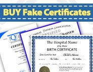 Buy Fake Certificates! High Quality! Ships Fast! : BuyaFakeDiploma.com