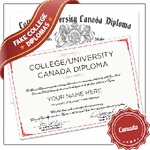 Fake Canada College Diploma