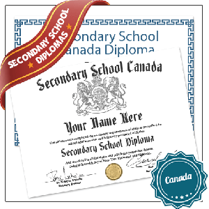 Fake Secondary School Canada Diplomas