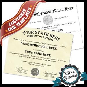 Fake High School USA Diploma