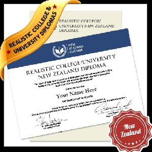 Realistic Replica College & University New Zealand Diploma