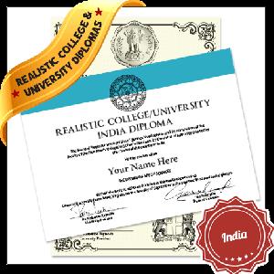 Realistic Fake College Diploma India
