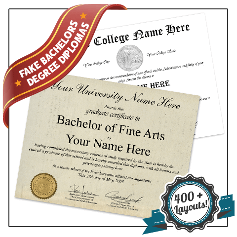 Get low cost Fake USA College Diplomas and Transcripts! Features Fake College Diploma with Transcripts. Discounted Package. Great Quality.