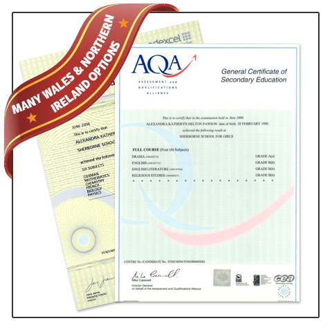 Get a high quality Fake GCSE Certificate! 100% custom made and satisfaction guarantee! Includes Northern Ireland and UK layouts.