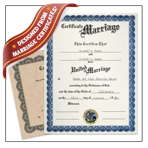 Get realistic Fake Marriage Certificate from BuyaFakeDiploma.com today! Designed from real certificate of marraige. Realistic recreation.