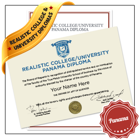 Jaw Dropping Realistic Replica College & University Panama Diploma Online! Captures Real Diploma Detail! Amazing Realism!