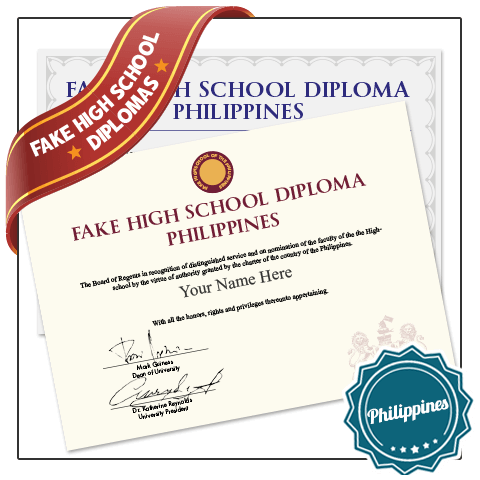 Find realistic fake Philippines high school diplomas. Features real diploma layouts, fully custom! Ships fasts and fully guaranteed!