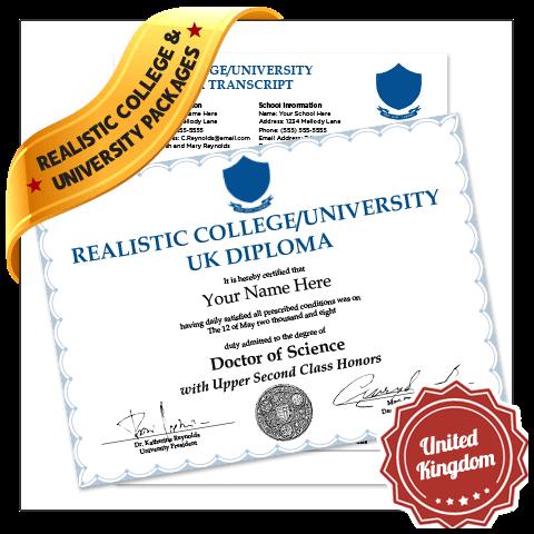 fake college diploma and transcript united kingdom