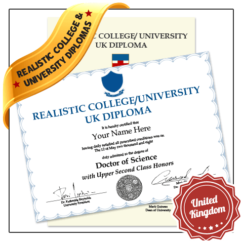 Jaw Dropping Replica Diploma from United Kingdom University Online in 2021! Captures Real Diploma Detail! Amazing Realism!