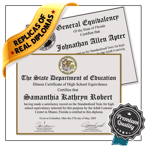 OMG! Amazing replica GED diploma! Full replica match of structure, format, etc!  Ships fast and fully guaranteed!
