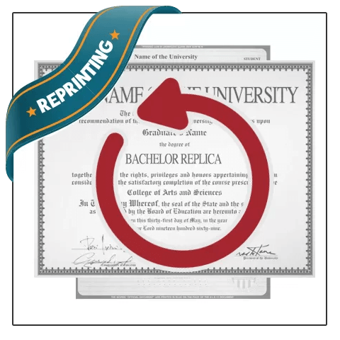 Purchased with BuyaFakeDiploma.com and need changes to a past order? Make a Reprint Order Request today!