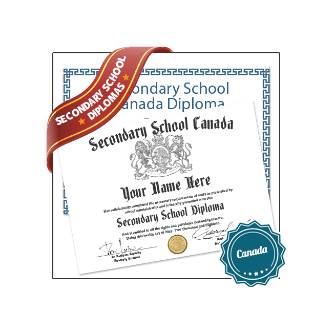 Buy Fake Secondary School Canada Diplomas from BuyaFakeDiploma.com today! Amazing Quality & Satisfaction Guaranteed!