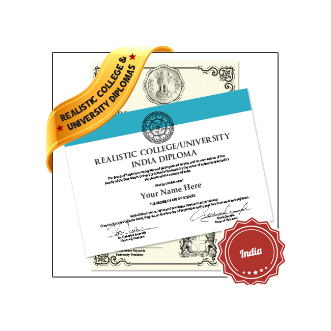Jaw Dropping Realistic Fake College Diploma India Online! Captures Real Diploma Detail! Amazing Realism!