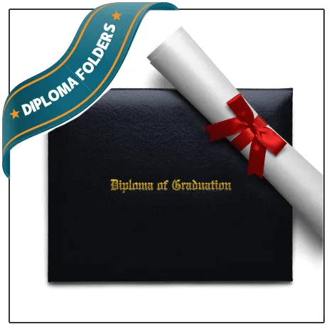 Enhance your certificate with a Diploma Folder Cover. Just like ones handed out on graduation. Popular upgrade.