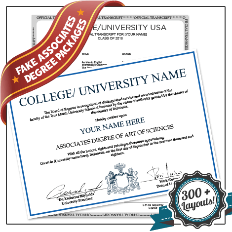 Fake Associate Degree and Transcripts