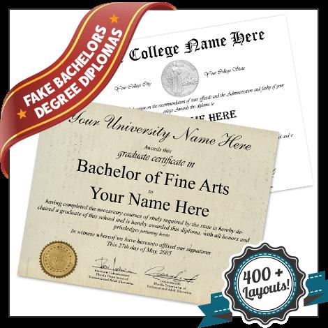 Fake Bachelor Diploma
