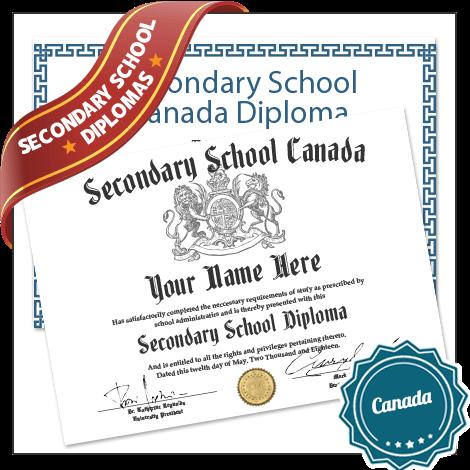 Buy Secondary School Diplomas Canada