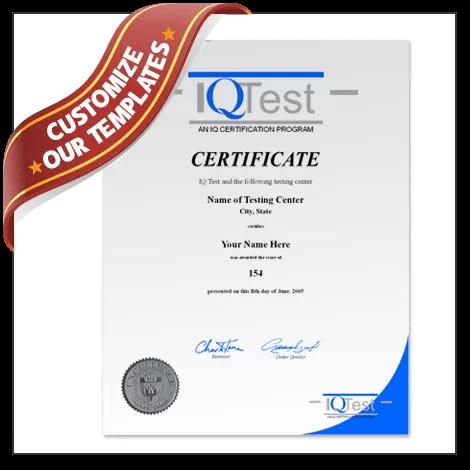 Fake IQ Certificate