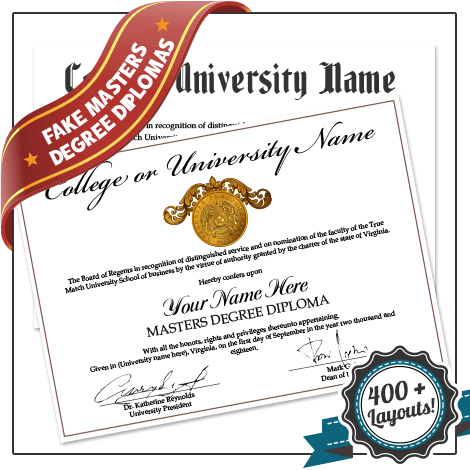 Get Fake Masters Diploma Degree from BuyaFakeDiploma.com! 100% Custom Made! High Quality! Realistic Univeristy Certificates!