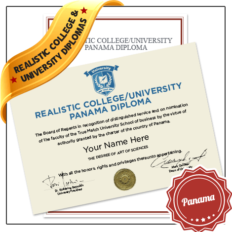Realistic Replica College & University Panama Diploma