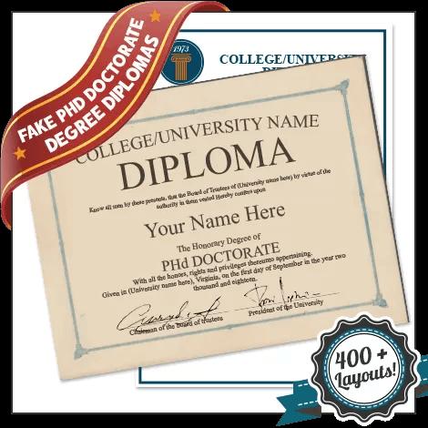 Fake PhD Diploma