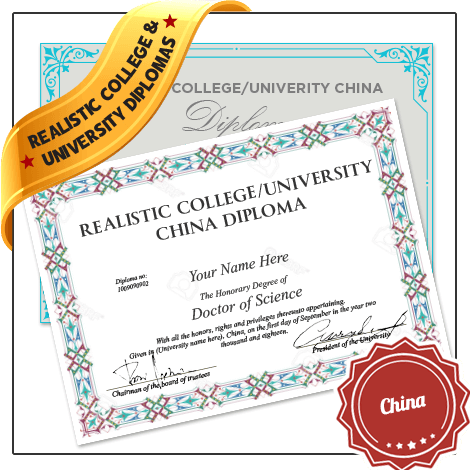 Realistic Replica College & University China Diploma