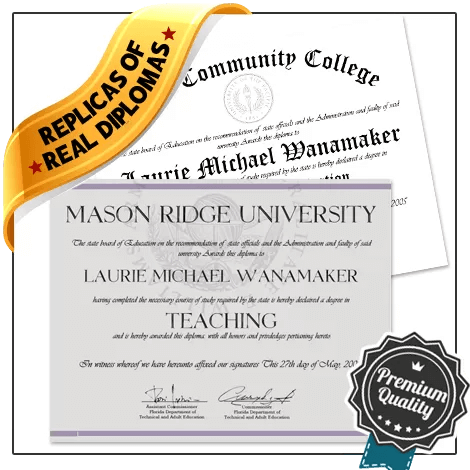 Jaw Dropping Realistic Replica USA College Diploma Online! Captures Real Diploma Detail! Amazing Realism!