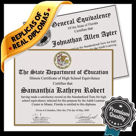 Replica GED Diploma