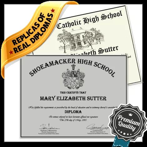 Realistic Replica High School Diploma