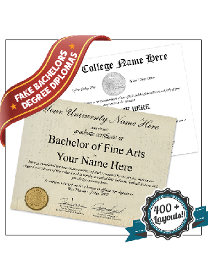 fake college diploma with transcript usa