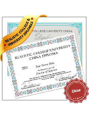 fake china college diploma