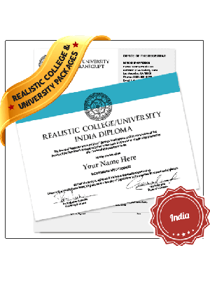 replica india college diploma with transcript