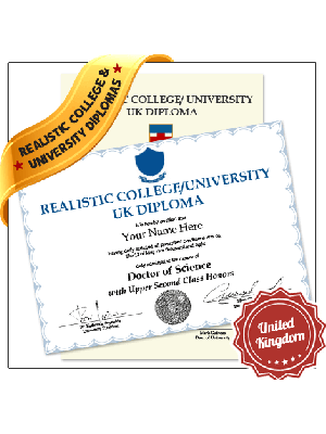 fake united kingdom college university diploma