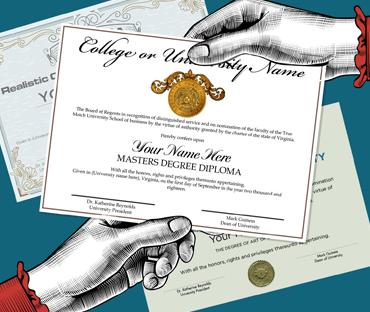 fake high school college diplomas