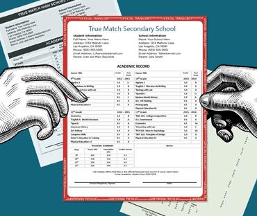 fake high school college transcripts